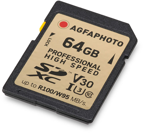 AgfaPhoto Professional V30 64GB SDXC Memory Card