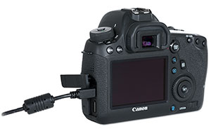 Canon 6D USB 3.0 cable connection to download files
