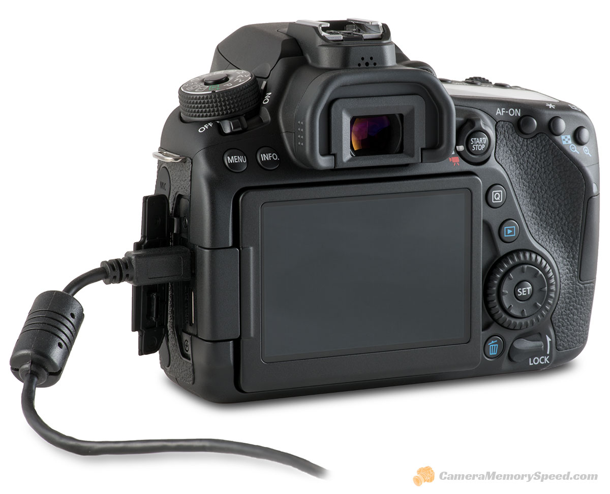 Canon 80D SD Card Comparison Write Speed Tests - Camera