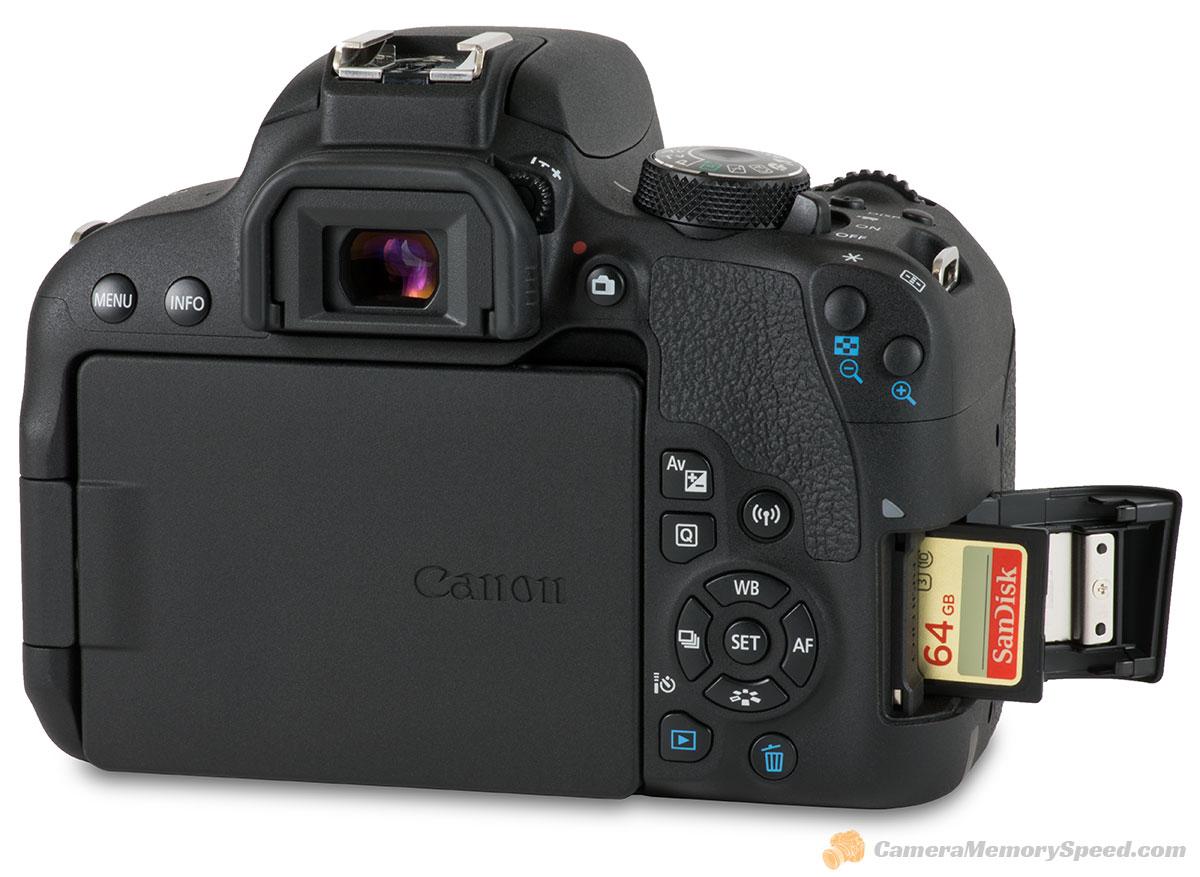 Canon Rebel T7i SD Card Comparison Fastest Write Speed Tests