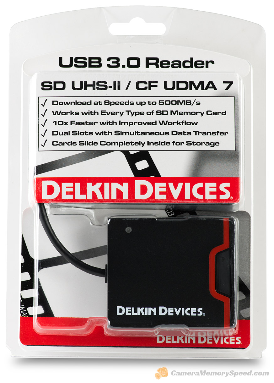 Delkin Dual Slot SD/CF Card Reader Review LAB-DDREADER-44