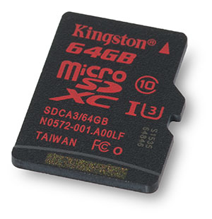 Kingston U3 microSDXC 64GB Memory Card
