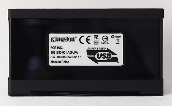 Kingston Memory Card Reader FCR-HS3 Bottom