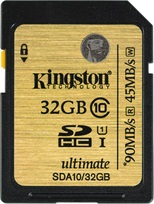 Kingston Ultimate 32GB SDHC Memory Card Front