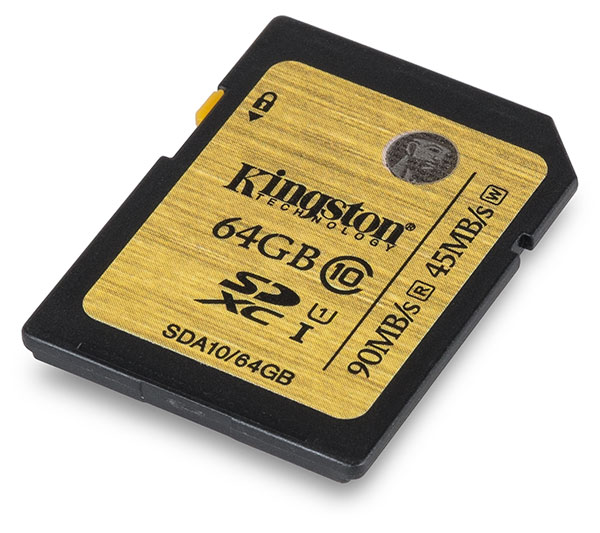 Kingston UHS-I 64GB SDXC Memory Card Front
