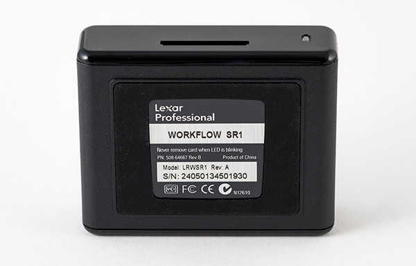 Lexar Professional Workflow SR1 SD Card Reader Bottom
