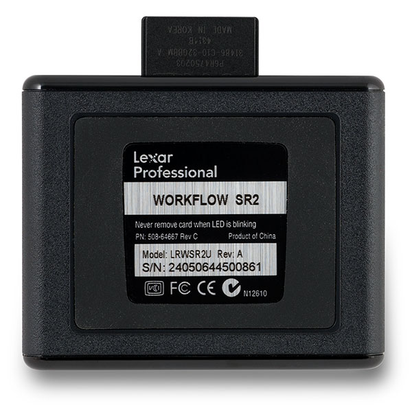 Lexar Professional Workflow SR2 UHS-II SD Card Reader Bottom
