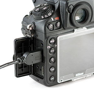 Transferring images using Nikon D800 USB 3.0 Connection