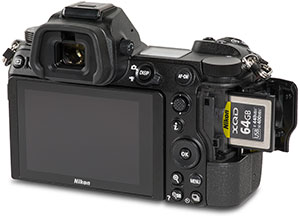 Nikon Z6 with XQD card in slot