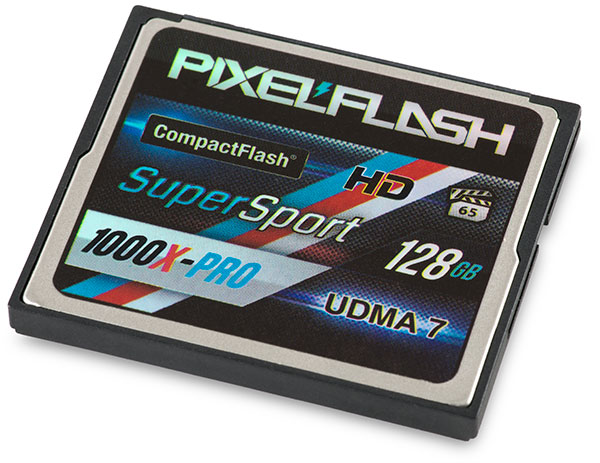 PixelFlash SuperSport 1000x-PRO 128GB CompactFlash Card