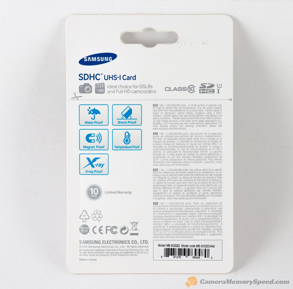 32 gigabyte sd - Samsung Pro 32gb Sdhc Memory Card Package Back
