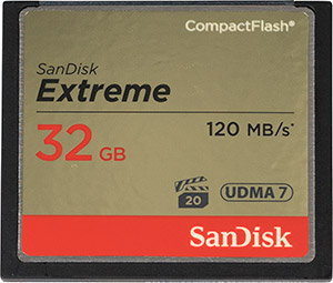 SanDisk Extreme 120MB/s 32GB CF Card Front