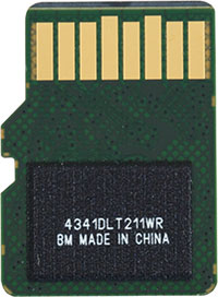 SanDisk Extreme Plus 80MB/s U3 MicroSDHC Card Back