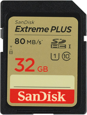 SanDisk Extreme Plus 80MB/s SD Card