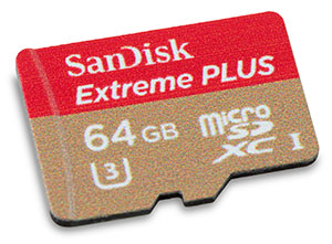 SanDisk Extreme Plus 95/90 MB/s U3 64GB MicroSDXC Card