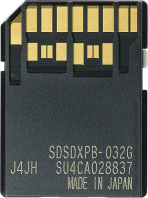 SanDisk Extreme Pro 280MB/s 32GB UHS-II SDHC Card Back