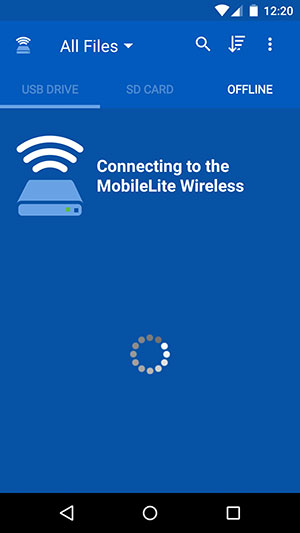 Connecting to MobileLite G2 Network