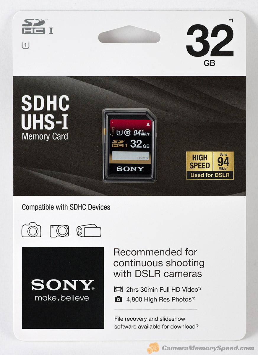 Review Sony 32gb Sdhc Uhs I High Speed Memory Card 94mb S Camera Sd Sandisk Class 10 Package Front