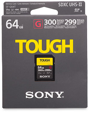 Sony Tough SF-G Series 64GB SDXC UHS-II Memory Card package front