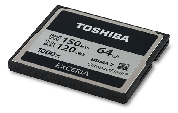 Toshiba Exceria 1000x 64GB CompactFlash Card Front