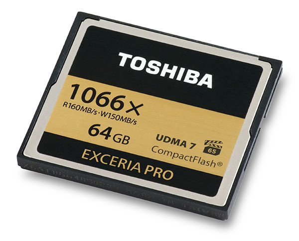 Toshiba Exceria Pro 1066x 64GB CompactFlash Card Front