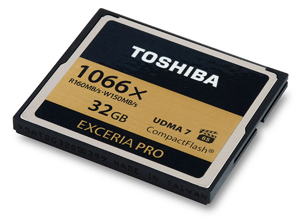Toshiba Exceria Pro 1066x 32GB CompactFlash Card Front