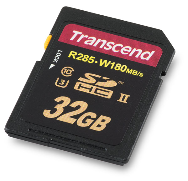 Transcend Ultimate UHS-II U3 285MB/s Read 180MB/s Write 32GB SDHC Card